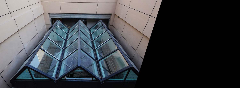 Restored window modern angled